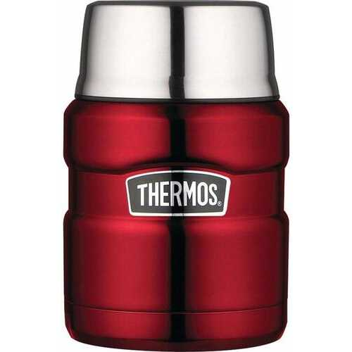 Thermos Stainless King 16 Ounce Food Jar with Folding Spoon - Cranberry