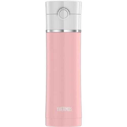 Thermos Sipp Stainless Water Bottle 16 Ounce Matte Pink
