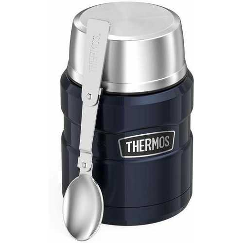 Thermos Stainless King 16 Ounce Food Jar Midnight Blue