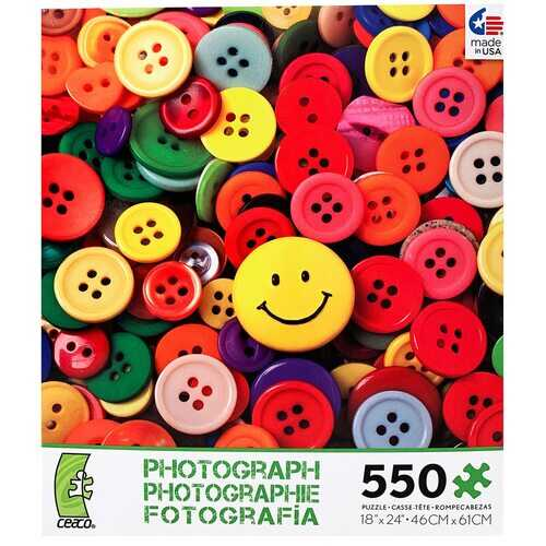 Ceaco Photography - Buttons Puzzle - 550 Pieces