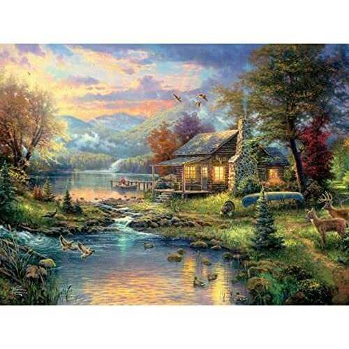 Ceaco Thomas Kinkade Special Edition Nature's Paradise Puzzle - 750 Piece