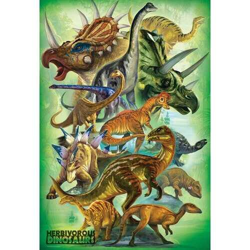 Eurographics Herbivorous Dinosaurs - 100pc Jigsaw Puzzle
