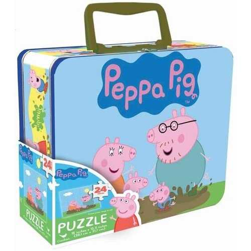 Peppa Pig Piece Puzzle in Tin Box with Handle
