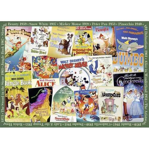 Ravensburger Disney Vintage Movie Posters 1000 Piece Puzzle