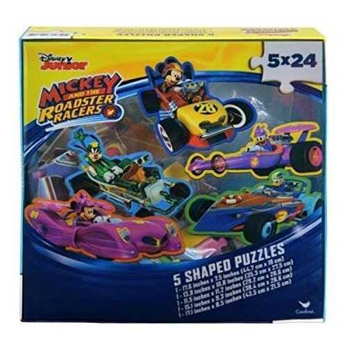 Disney Mickey Mouse 5-Shaped Puzzle Pack - 5x 24 Piece Puzzles