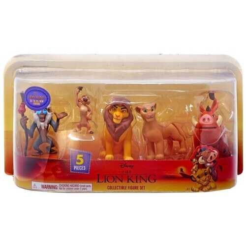 Disney The Lion King Rafiki, Nala, Simba, Timon & Pumbaa Figure 5-Pack