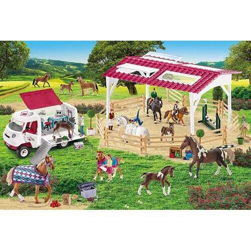 Schleich Puzzle - Riding School and Veterinarian - 150 Pieces