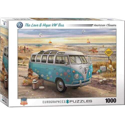 Eurographics The Love & Hope VW Bus by Greg Giordano 1000 Piece Jigsaw Puzzle