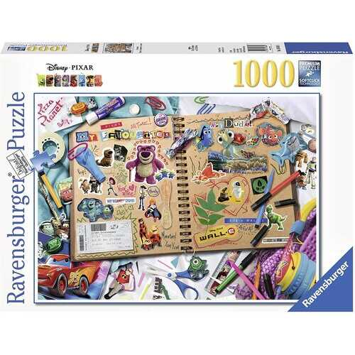 Ravensburger 19816 Disney Pixar Scrapbook Puzzle Set (1000 Piece)