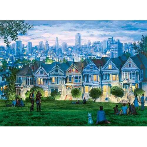 Eurographics Eugene Lushpin - San Francisco - The Seven Sisters - 1000 Piece Puzzle