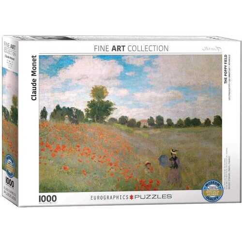 Eurographics Claude Monet - The Poppy Field - 1000 Piece Puzzle
