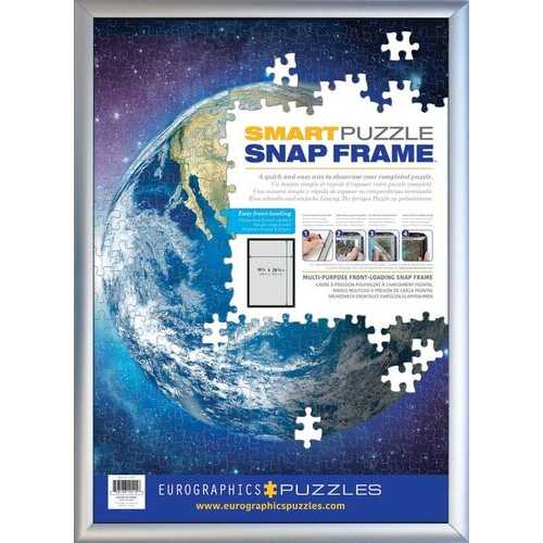 Eurographics SNAP Frame - Silver - Aluminum - (Holds a standard 19.25 x 26.6 inch puzzle)