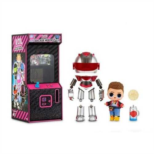 LOL Surprise! Boys Arcade Heroes Action Figure Doll with 15 Surprises