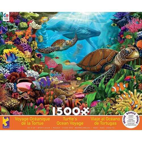 Ceaco Turtle's Ocean Voyage Jigsaw Puzzle - 1500 Pieces