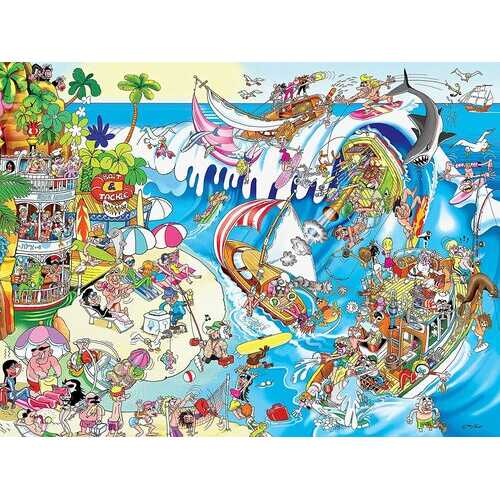 Ceaco Comic Capers The Wave - 300 Piece Puzzle