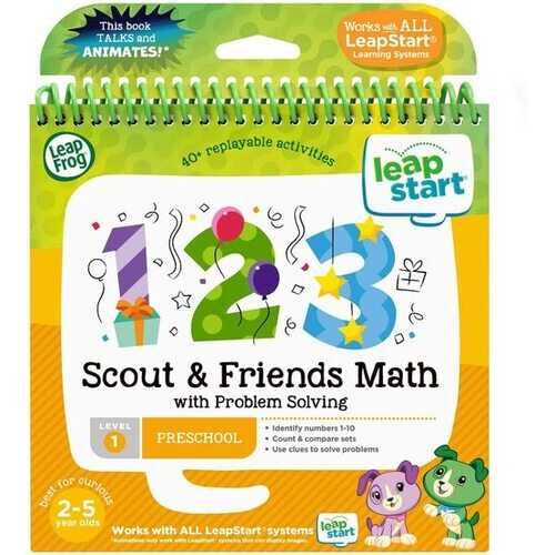 LeapFrog LeapStart Activity Book Scout & Friends Math with Problem Solving