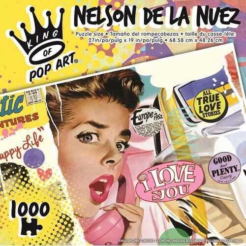 King of Pop Art - Nelson De La Nuez - I Love You - 1000 Piece Puzzle
