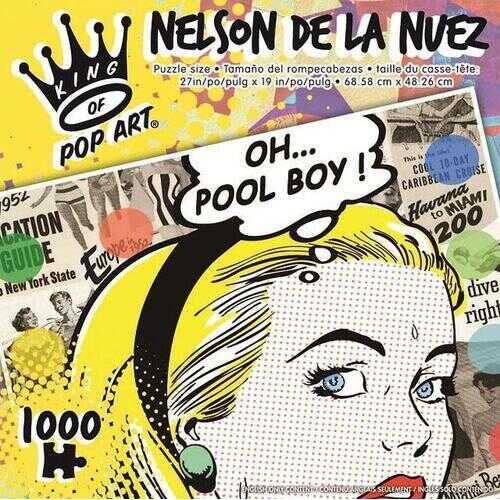 King of Pop Art - Nelson De La Nuez - Oh... Pool Boy! - 1000 Piece Puzzle
