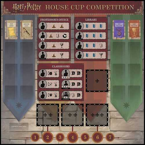 USAOPOLY Harry Potter House Cup Competition | Worker Placement Board Game | Play as Your Favorite Hogwarts House
