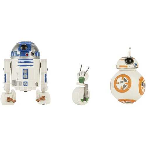 Hasbro Star Wars Galaxy of Adventures R2-D2, BB-8, D-O Action Figure 3-Pack, 5-inch Scale Droid Toys with Fun Action Features