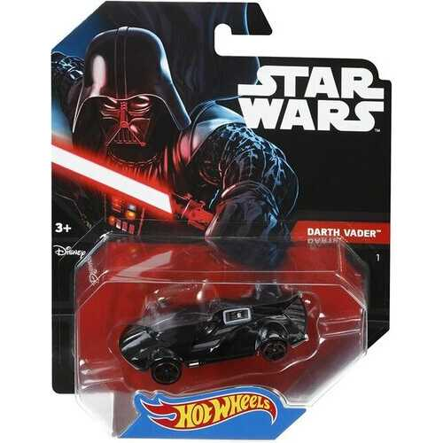 Hot Wheels Character Cars - Darth Vader - Die-Cast