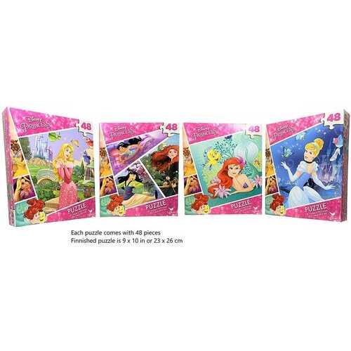 Disney Princess 4-Pack Puzzle Combo - 48 Pieces Each