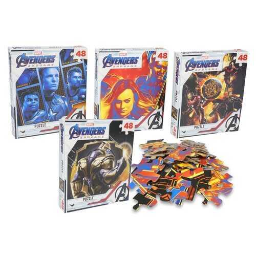 Avengers Endgame Puzzle - 4 Pack Puzzle Combo - 48 Pieces Each