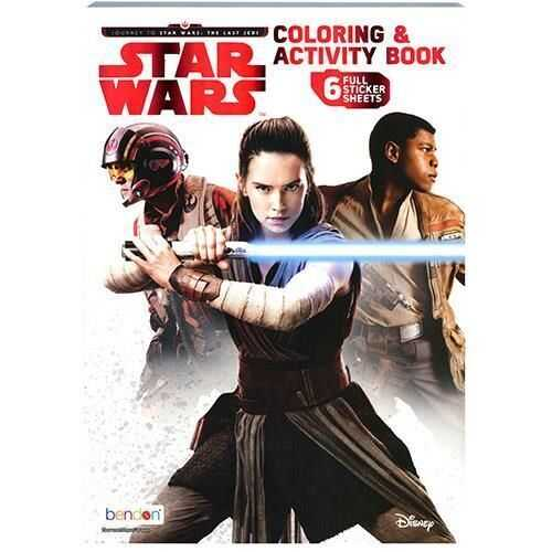 Star Wars Coloring and Activity Book - 6 Full Sticker Sheets Included