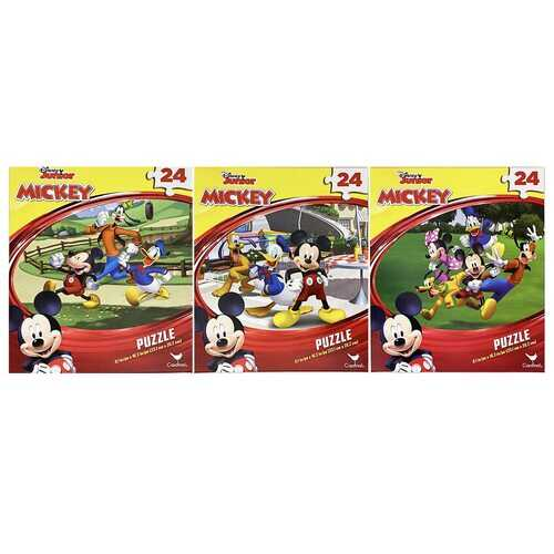 Disney Junior Mickey Mouse 3-Puzzle Pack - 24 Pieces Each