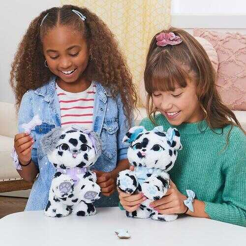 Present Pets, Diamond Dalmatian Interactive Plush Pet Toy with 2 Bonus Accessories and Over 100 Sounds and Actions