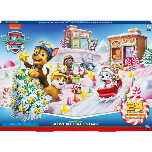 PAW Patrol 6059302 - 2019 Advent Calendar with 24 Exclusive Collectible Pieces, for Kids Aged 3 and up