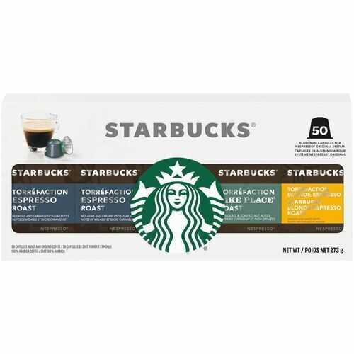 Starbucks By Nespresso 50 Aluminum Capsules Variety Pack