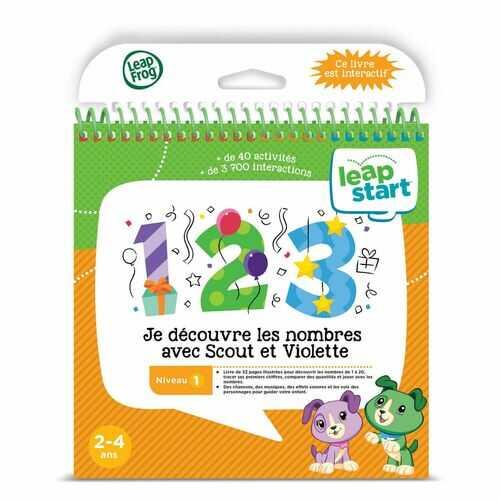 LeapFrog LeapStart 3D Preshool Activity Book (Level 1): Je dcouvre Les Nombres Avec Scout et Violette - Mathematics - French Version