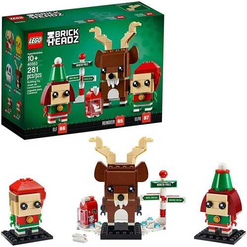 LEGO Brickheadz 40353 Reindeer, Elf and Elfie