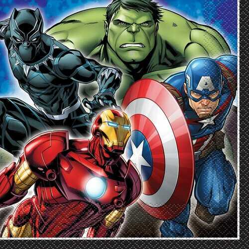 Avengers Luncheon Party Napkins 16ct