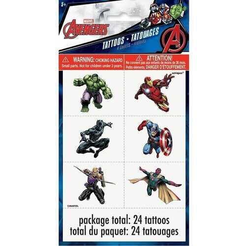 Avengers Tattoos 24ct