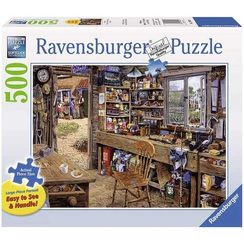 Ravensburger Dad's Shed - 500 Pieces Large Format Jigsaw Puzzle