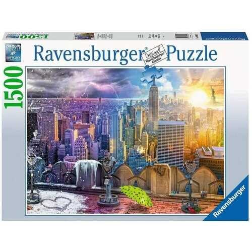 Ravensburger Day and Night New York Skyline 1500 Piece Puzzle