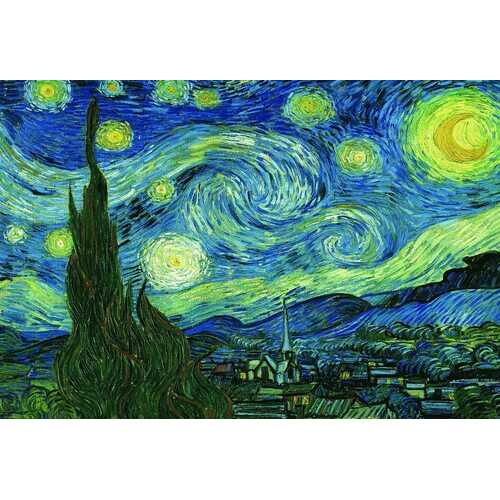 Eurographics Starry Night by Vincent Van Gogh Puzzle (2000-Piece)