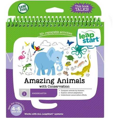 LeapFrog LeapStart Kindergarten Activity Book: Amazing Animals and Conservation