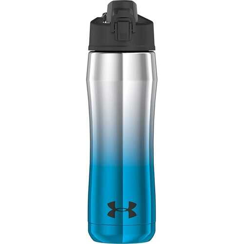Under Armour Beyond 18 Ounce Stainless Steel Water Bottle, Blue Chrome