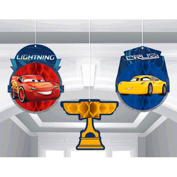 Cars 3 Honeycomb Decorations