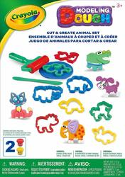 Crayola Modelling Dough Cut & Create Animal Set