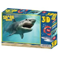 Discovery Channel Shark Week 3D Lenticular Puzzle - Open Jaws - 500 Pieces