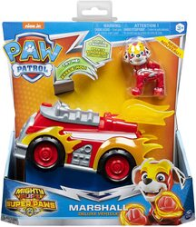 Paw Patrol - Mighty Pups Super Paws - Marshall's Deluxe Vehicle with Lights & Sounds