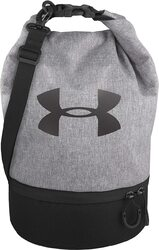 Under Armour K39263 Dual Compartment Lunch Bag, 8.5 x 7.5 x 12.6, Heather Gray with Black Logo