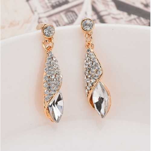 Long Earrings Water Drop Elegant Earring