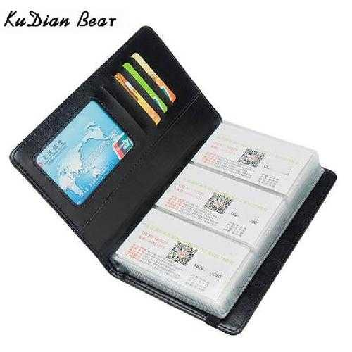 120 Cards Business Card Holder Wallet Credit Card Cover Bags Travel Card Organizer Bags Porte Carte