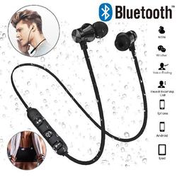 Magnetic Attraction Bluetooth Earphone Waterproof Sport Headphone 4.2 with Charging Cable Young Earphones Build-in Mic Headphone