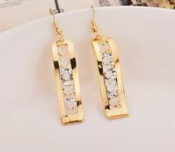 Gold Colors Hanging Earings Fashion Earrings